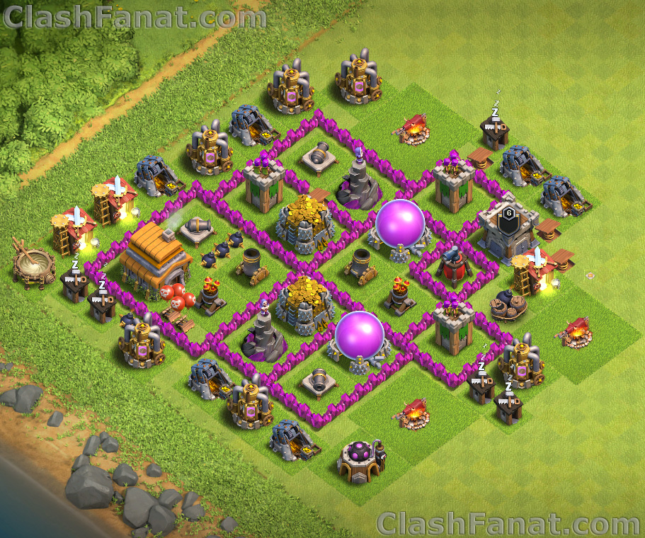 Rathaus level 6 farming base