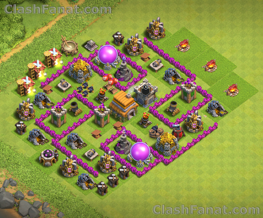 Town hall 6 base - Best th6 layout Clash of Clans 2018