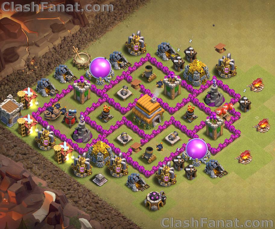 Rathaus Level 6 Base Die Besten Coc Rh 6 Base