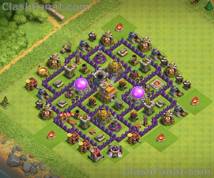 Town hall 7 farming base