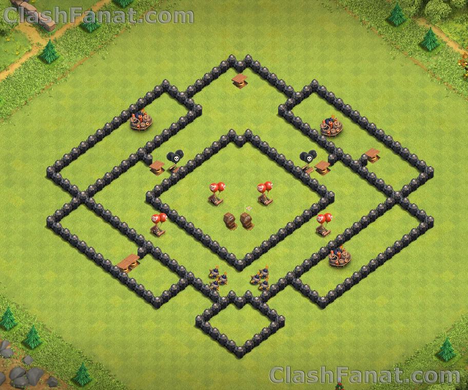 Town hall 8 farming base