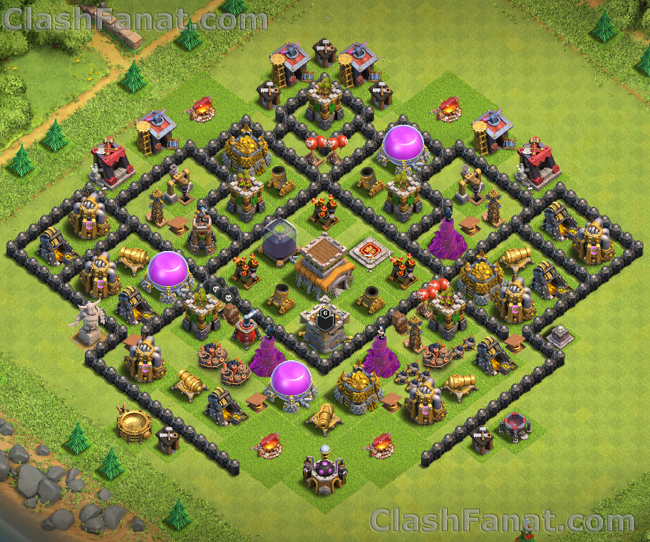 Rathaus level 8 trophäen base