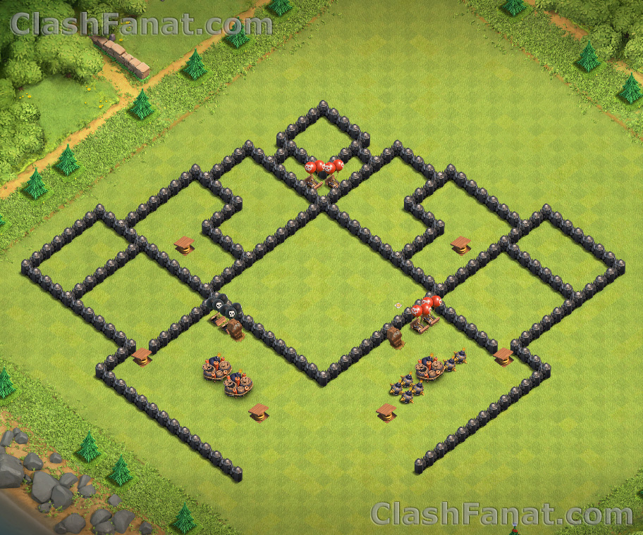 Town hall 8 trophy base