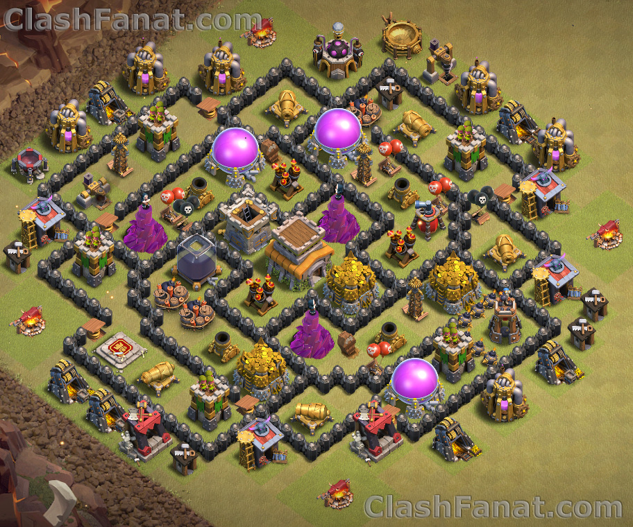 town hall 8 base best th8 layout clash of clans