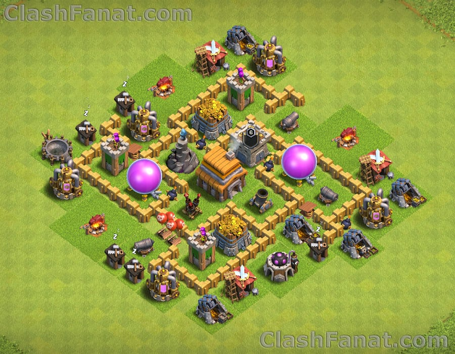 Town hall 5 defense base