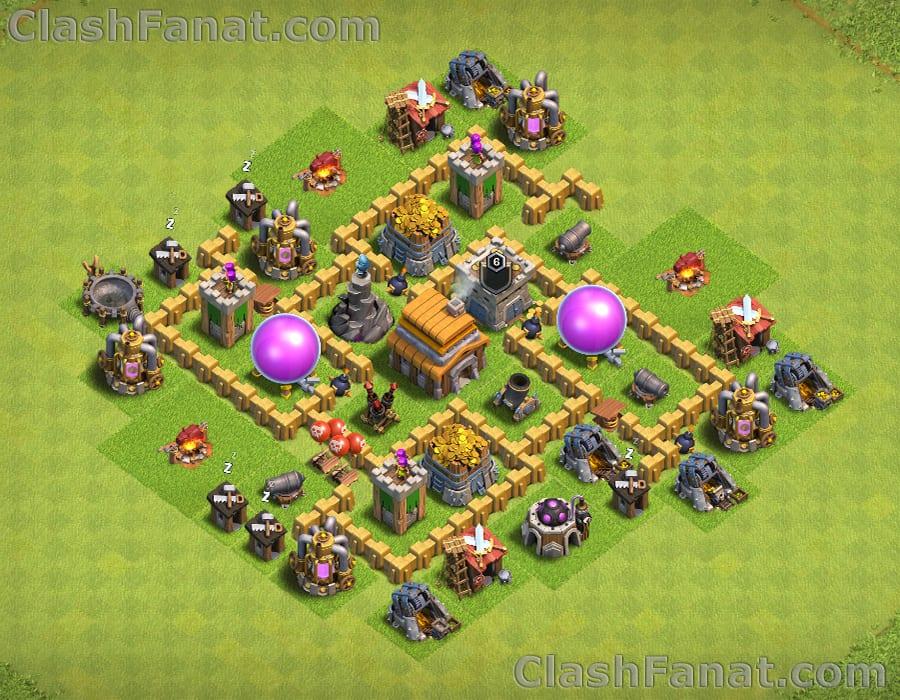Rathaus level 5 verteidigung base