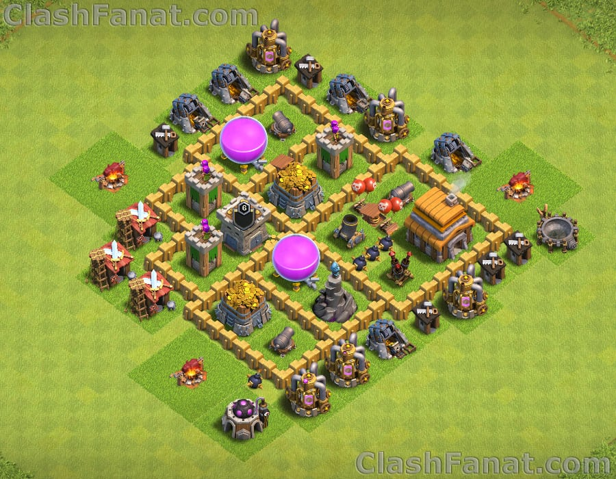 Town hall 5 farming base