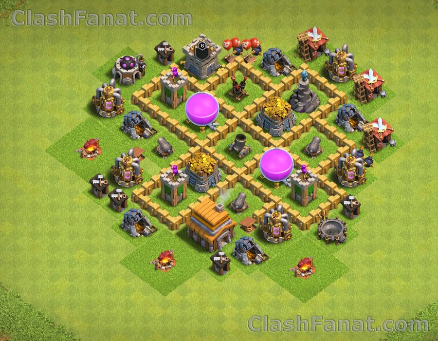 Rathaus level 5 farming base