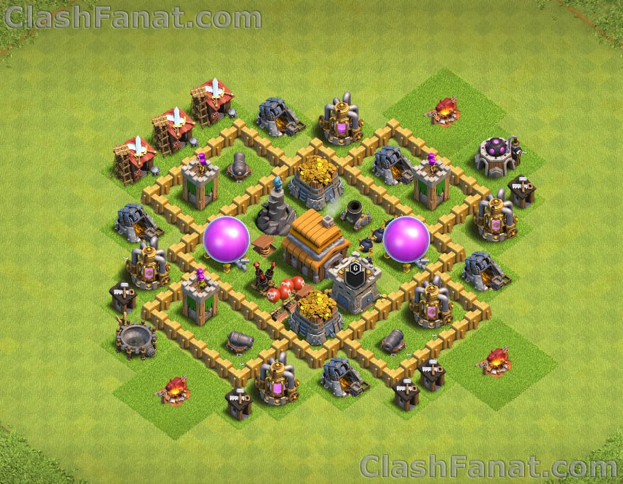 town hall 5 base best th5 layout clash of clans 2018