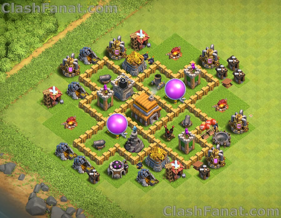 Town hall 5 trophy base