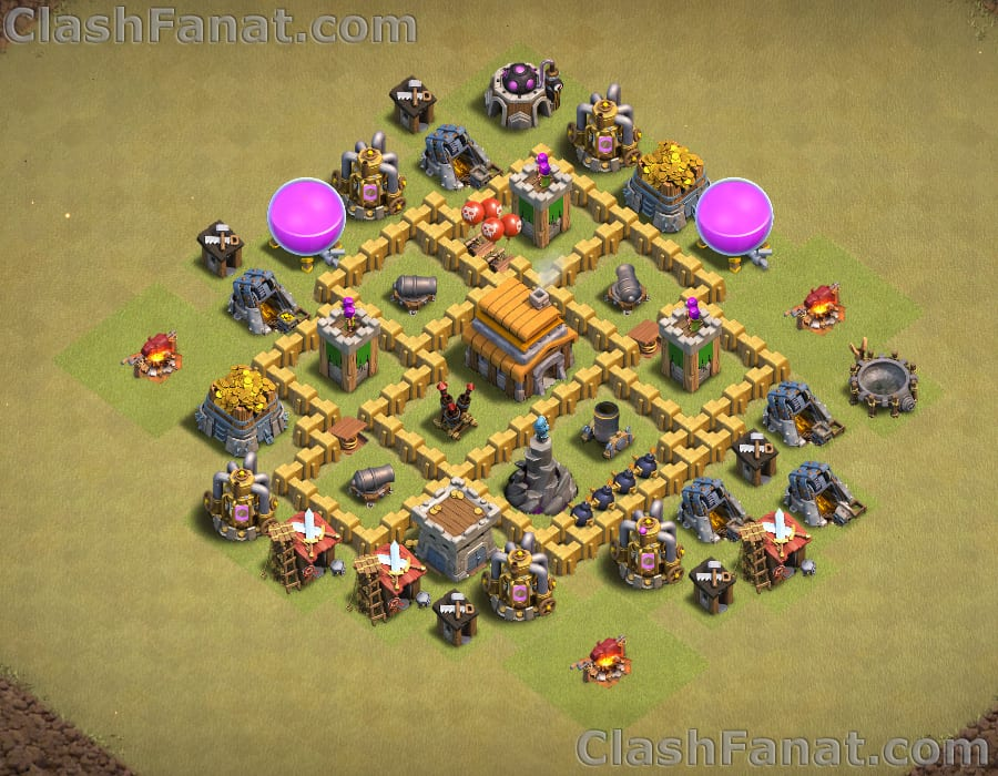Town hall 5 war base