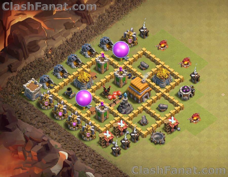 Town hall 5 war base