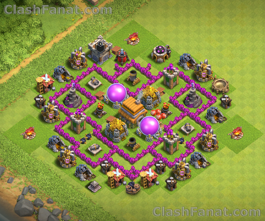 Town hall 6 base - Best th6 layout Clash of Clans 2019